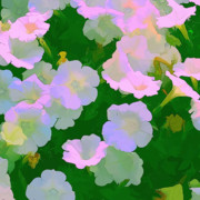 Flower Scene Digital Art - Pastel flowers by Tom Prendergast