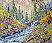 Richard Art - Pastel Forest by Richard T Pranke