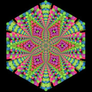 Purple Kaleidoscopes. Posters - Pastel Neon Art Poster by Laura Mountainspring