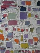 Sand Mixed Media Originals - Pastel Shapes by Gail Hinchen