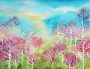 Maine Artist Paintings - Pastel Spring by Brenda Owen
