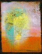 Affiche Mixed Media - Pastel Window Abstract by Anahi DeCanio