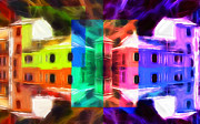 Reflection Pastels Prints - Pastel Windows Print by Stefan Kuhn