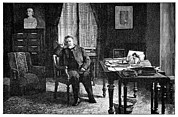 Pasteur In His Study, 19th Century Print by