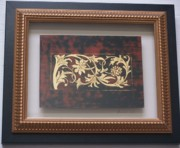 Framed Reliefs - Pastiligia on Japanned surface by Linda Andrews