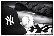 Baseball Cap Posters - Pastime Essentials Poster by John Rizzuto