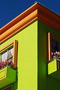 City Scape Digital Art Originals - Pastle Corners by Rob Hans