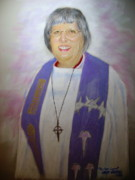 Clergy Pastels - Pastor Lynn by Larry Whitler