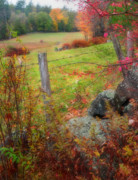 Autumn Scenes Metal Prints - Pastoral New Hampshire - Autumn in the Monadnock Region Metal Print by Thomas Schoeller