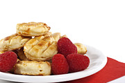 Brunch Posters - Pastries and raspberries Poster by Blink Images
