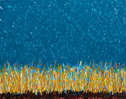Winter Promise Prints - Pasture First Snow Print by Mike Brining