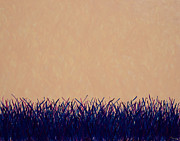 Presence Painting Originals - Pasture in Summer Morning Heat by Mike Brining