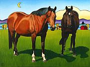 Horse Art - Pasture Pals by Stacey Neumiller