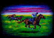 Kentucky Pastels - Pasture Race by Laurie Tietjen