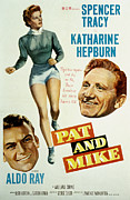 Films By George Cukor Prints - Pat And Mike, Aldo Ray, Katharine Print by Everett
