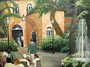 Fencing Paintings - Pat O Brians Restaurant by Gretchen Allen