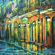 Street Scenes Paintings - Pat O Briens by Dianne Parks