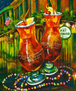 New Orleans Artist Paintings - Pat OBriens Hurricanes by Dianne Parks
