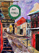 Pat O Briens Paintings - Pat OBriens by Vincent Thibodeaux