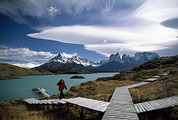 Paine Framed Prints - Patagonias Craggy Paine Massif Rises Framed Print by Pablo Corral Vega
