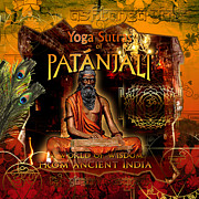Ipod Digital Art Framed Prints - PATANJALI - Yoga Sutras Framed Print by Graphicsite Luzern