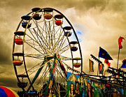 Ferris Wheel Framed Prints - Patch of Blue Framed Print by Bob Orsillo