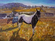 Del Rio Paintings - Patches and Pandora by Jody Swope