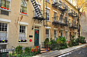 Greenwich Village Art - Patchin Place - EE Cummings Historic Home by Randy Aveille