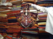 Coins Tapestries - Textiles - Patchwork Bags by Dinesh Rathi