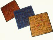 Cushion Tapestries - Textiles Originals - Patchwork Cushion Covers by Dinesh Rathi