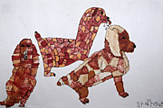 Mutt Drawings - Patchwork Dogs by Stephanie Ward