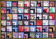 Bed Quilt Tapestries - Textiles - Patchwork Quilt 1 by Eva Sandor