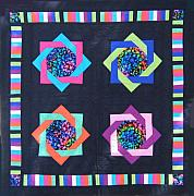 Bed Quilt Tapestries - Textiles - Patchwork Quilt 25 - Table cover by Eva Sandor