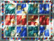 Bed Quilt Tapestries - Textiles - Patchwork Quilt 3 by Eva Sandor