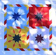 Table Cloth Tapestries - Textiles - Patchwork Quilt 30 - Table cover by Eva Sandor