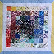 Table Cloth Tapestries - Textiles - Patchwork Quilt 32 - Table cover by Eva Sandor