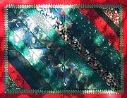 Table Cloth Tapestries - Textiles - Patchwork Quilt 34 - Table cover by Eva Sandor