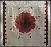 Bed Quilt Tapestries - Textiles - Patchwork Quilt 35 by Eva Sandor