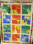 Bed Quilt Tapestries - Textiles - patchwork Quilt 36 by Eva Sandor