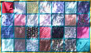 Bed Quilt Tapestries - Textiles - Patchwork Quilt 4 by Eva Sandor