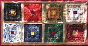 Bed Quilt Tapestries - Textiles - Patchwork Quilt 5 by Eva Sandor