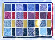 Bed Quilt Tapestries - Textiles - Patchwork Quilt 9 by Eva Sandor