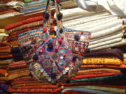 Coins Tapestries - Textiles - Patchwork Tribal Bags by Dinesh Rathi