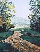 Smoky Mountains Paintings - Path from the Cabin by Todd A Blanchard