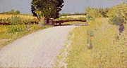 Lane Framed Prints - Path in the Country Framed Print by Charles Angrand