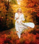 Path Of Fall Print by Karen H