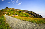 Road Signal Prints - Path to Cabot Tower on Signal Hill Print by Elena Elisseeva