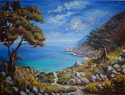 Yvonne Ayoub Art - Path to Kastro Beach by Yvonne Ayoub