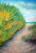 Relax Pastels Framed Prints - Path to Serenity Framed Print by Gabriela Valencia