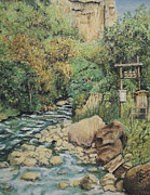 Clear Pastels Posters - Path to the River Poster by Jim Barber Hove